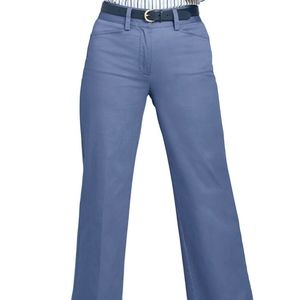 Lands' End Fit 2 Mid Rise Wide Leg Blue Chinos NWT